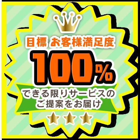 目標 お客様満足度100%